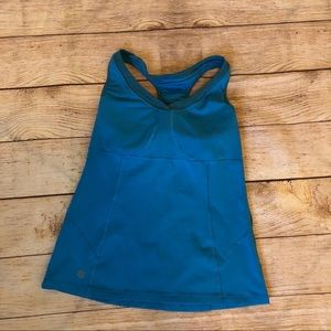 Blue Athleta Va Va Built in Bra Tank